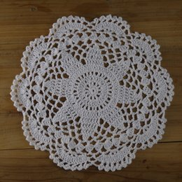 "$enCountryForm.capitalKeyWord NZ - 20cm 8"" Hand crochet doilies white, floral crochet pattern doilies, round lace doilies, crochet table cloth for weddding decor Home Textiles"