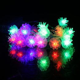 wholesale led strip light 22m 20 led battery led string lights pinecone clip shape christmas party festival decoration fairy string lamp