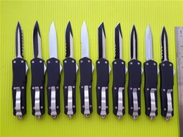 tactical knives 2019 - 9'' Micro A07 Combat troodon D A custom knives 440C steel Satin   Two-tone Aluminum zinc alloy handle A163 A16
