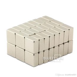 Cuboid Magnets NZ - 50pcs N50 Strong Block Cuboid Magnets 10mm x 10mm x 5mm Rare Earth Neodymium