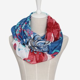 Cotton Viscose Scarves Australia - 2017 Women Brand Fashion Cotton Print Scarf cachecol inverno viscose Infinity Loop foulard scarves Snood hijab foulard sjaal