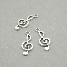 $enCountryForm.capitalKeyWord Canada - 200pcs Music Note Treble Clef Musical Charms Antique Silver zinc alloy beads 8X20mm DIY pendent LM113