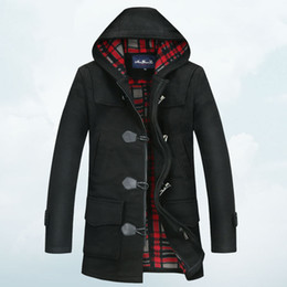 Black Hooded Pea Coat Online | Mens Hooded Pea Coat Black for Sale