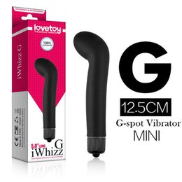 Barato Vibrador Preto G Spot-Lovetoy Black Bending Head G-spot Bullet Vibrator Silicone Vibrating Massager Adulto Erotic Sex Products Sex Toys para Mulheres q1711241