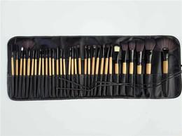 Goat Hair Dhl Canada - Hot sale 32pcs Professional Makeup Brushes Set Tools Pro Foundation Eyeshadow Brushes Superior Soft Eyeliner Make up Brushes free DHL