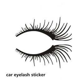 headlight eyelashes UK - Wholesale car headlight sticker Charming car body sticker Black False Eyelashes car eye lash Sticker atp240