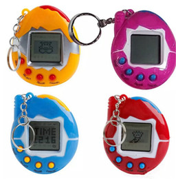 New virtual games online shopping - New Hot Mixed colors Tamagotchi Toys with button cell Retro Game Virtual Pets electronic toy for kids christmas party gift