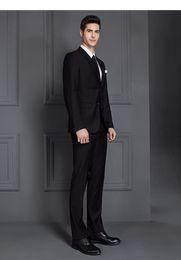 Mens Blue Check Suit Canada - 2 Piece Suits Men British Latest Coat Pant Designs Royal Blue Mens Suit Autumn Winter Thick Slim Fit Plaid Wedding Dress Tuxedos