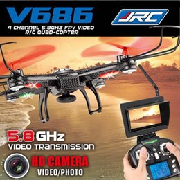 Ufo 4ch online shopping - JJRC V686 V686G Axis Gyro G CH G UFO RC FPV Quadcopter Drone with MP Camera Helicoptero