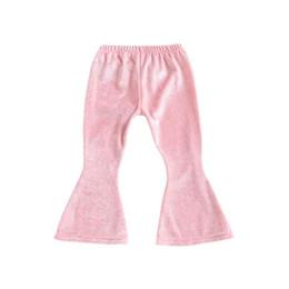$enCountryForm.capitalKeyWord UK - Pleuche Flare Winter Baby Girls Pants Pink Kids Baby Girls Bellet Legging Soft Velvet Children Trousers 1-4T