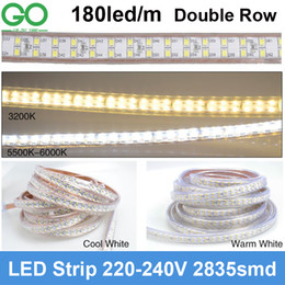 $enCountryForm.capitalKeyWord NZ - 10m LED Strips Light 180led m 220V 230V Super bright SMD 2835 Double Row Warm Cold White waterproof +Power Plug Hotel Building Lighting