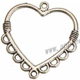 $enCountryForm.capitalKeyWord Canada - earrings necklaces chains pendants connectors charms diy 1 and 9 multi holes heart love open hollow metal 28*26mm jewelry findings 300pcs