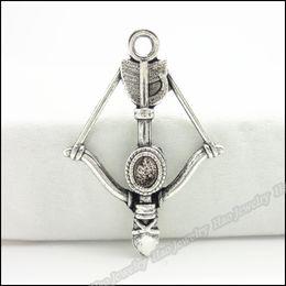 Старинные подвески Арбалет кулон Тибетское серебро цинковый сплав Fit браслет ожерелье DIY металлические ювелирные изделия выводы