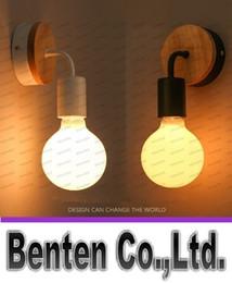 $enCountryForm.capitalKeyWord NZ - 9W LED E27 Vintage Solid Wood Wall Lamps Bedroom Bedside Lights Retro Industrial Wall Sconces Aisle Light Fixture Abajur Decoration LLFA5097