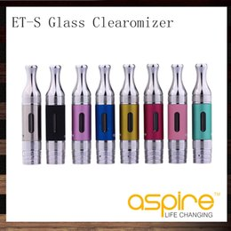 aspire et s bvc atomizers Australia - Aspire ETS BVC Glass Clearomizer ET-S BDC Glassomizer 3ml Aspire ETS Atomizer With BVC BDC Coils Head