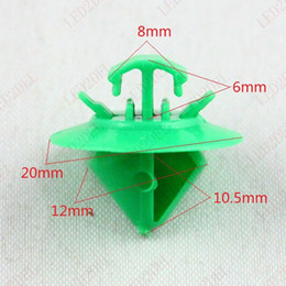 Snaps Strip Canada - Green Nylon Auto Door Panel Trim Bump Rub Strip Moulding Clips Retainer Fastener Snap for Peugeot
