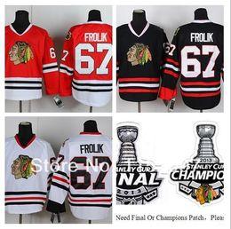 $enCountryForm.capitalKeyWord Australia - Cheap #67 Michael Frolik Jersey Finals Champions Men's Ice Hockey Jerseys Chicago Blackhawks Home Red White Black All Stitching