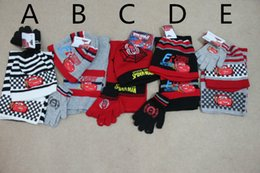 0c156e6a0407e Wholesale-Baby Boys Girls Cars scarf+hat+gloves 3pcs set