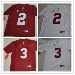 Alabama Crimson Tide 2 Tony Brown 3 Daniel Wright 33 Anfernee Jennings White  Red Stitched College Football limited Mens Jerseys size S-3XL ... 7c4c00bf2