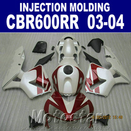 fairing repair NZ - Fit! 100% Injection Molding red set for HONDA CBR 600RR fairing 2003 2004 ABS cbr600rr 03 04 body repair parts +7Gifts IXSR