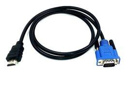 100 pçs / lote HDMI Macho para SVGA VGA 1 m 1.5 m 2 m 3 m 5 m 4 m 10 M Conversor A / V Cabo de Chumbo venda por atacado