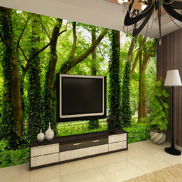 3d stereo sound 2019 - Art customized large Mural personalized customize 3d stereo big tree sofa tv wallpaper discount 3d stereo sound