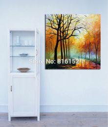 Modern Palette Knife Fall Park Forest Slient Alley Landscape Canvas Printing Art For Bedroom Living Room Home Decoration