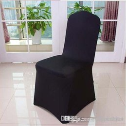 White Wedding Chairs Wholesale Canada - Hot sale,ivory Black White Spandex Stretch Chair Cover Lycra For Wedding Banquet Party Hotel Decorations