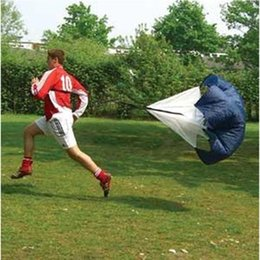 Umbrellas rUnning parachUtes online shopping - Free DHL Speed Training Resistance Parachute Running Chute Strength Training Speed Chute Quality Polyester Running Umbrella Black
