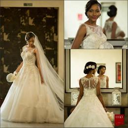 mermaid crystal dubai wedding dress 2019 - 2017 Gorgeous Mermaid Wedding Dresses Sheer Neck South African Beaded Crystal Lace Appliques Wedding Gowns Arabic Dubai