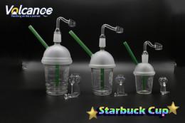 18mm starbucks oil rig online shopping - Starbucks Glass Cup With Free Quartz Banger mm mm mm Male Oil Rigs For Glass Bongs Glass Water Filtra
