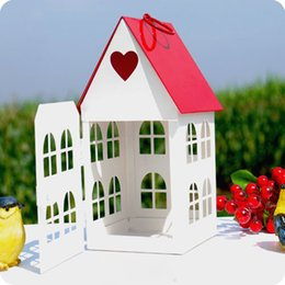 $enCountryForm.capitalKeyWord Canada - CH-114 Vintage fashion white small house mousse, lantern home decor, big red candles holder