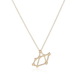 Wholesale 10Pcs Sagittarius Zodiac Sign Star Astrology Pendant  Constellation Women Charm Necklaces Simple Science Jewelry 24be88ae956d