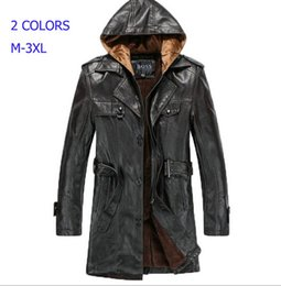 Discount Mens Hooded Leather Trench Coat | 2017 Mens Hooded ...