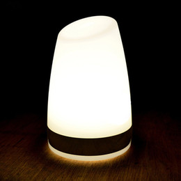 Discount free art deco - Free shipping 1 piece colorful changeable rechargeable cylinder LED bar table lamp dimmable led night light for nightclu