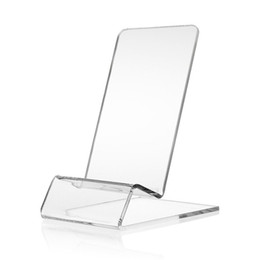 $enCountryForm.capitalKeyWord UK - Clear Display Stand Acrylic Mount Tablet Phone Universal Stand Holder for Cell Phone iPhone 5 SC 6 6s plus 7 7plus for Xiaomi Samsung