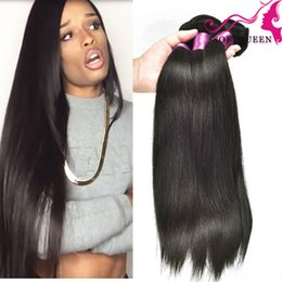 Discount amazing hair weave - Amazing Brazilian Peruvian Malaysian Indian Virgin Human HAIR 4 Bundles Straight Weaves Hair Cheap Raw Indian Hair Exten