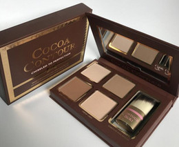 Discount hot chocolate wholesalers - HOT New Makeup COCOA Contour Highlighters Palette Nude Color Face Concealer Chocolate Eyeshadow with Contour Buki Brush