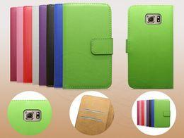 $enCountryForm.capitalKeyWord Canada - abby PU leather phone for samsung galaxy S7 S7 edge phone shell protective sleeve with double folding wallet card