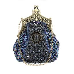 13d0b532c ... hecho a mano con cuentas mujeres bolso de noche de lujo elegante bolso  de embrague bolso nupcial con el monedero de cadena para el banquete de boda