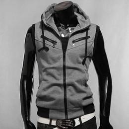 Discount Buttoned Vest Hoodie Men | 2017 Buttoned Vest Hoodie Men ...