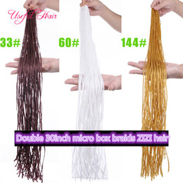 Discount loop hair extensions blonde - blonde hair extenions pre-loop box braids 60inch ZIZi synthetic braiding hair micro box braids marley hair 8pcs one head
