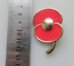 $enCountryForm.capitalKeyWord Canada - 2 Inch Gold Tone Hot Pink Emeral Remembrance Day Gifts Poppy Flower Brooch Badge UK Pins