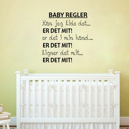 paper for art Australia - Danish BABY REGLER Vinyl Wall Decals Sticker For Nursery Decor,Denmark Letter Wall Art For Home Decoration Free shipping