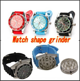Grinder Watches Canada - 2015 Fashion Classic grinder watch Watch shape Tobacco grinder somking grinder Wristwatch watch Real Grinde Factory Price DHL free
