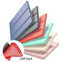 Wholesale Smart cover for iPad Air mini new ipad pro Silicone soft tpu back full protective Case Auto Sleep wake shell