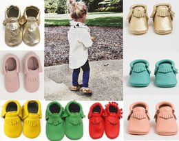 Wholesale Leather Baby Booties Canada - 20%off!(6pairs free socks)NEW ARRIVAL free shipping wholesale baby moccasins soft leather moccs baby booties toddler shoes 6pairs 12pcs
