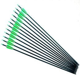China 28 30 31 Inches spine 500 Carbon Arrows Archery Hunting Target Arrows with Replaceable Screw Field Points for Compound Recurve Bow Hunting suppliers