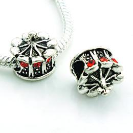 $enCountryForm.capitalKeyWord Canada - Fashion Metal Beads Plated Antique Silver 4 Color Rhinestone Town Big Hole Loose Beads European Charm DIY Bracelets Accessories