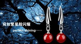 $enCountryForm.capitalKeyWord Australia - Fashion Jewelry Women 925 sterling Silver Natural Red Black Agate Drop Dangle Hook Earrings Ear Rings ear studs eardrop Accessories Earings